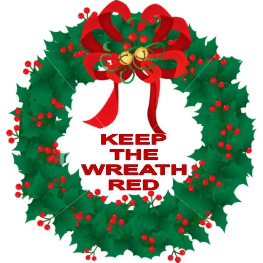 Keep Wreath Red