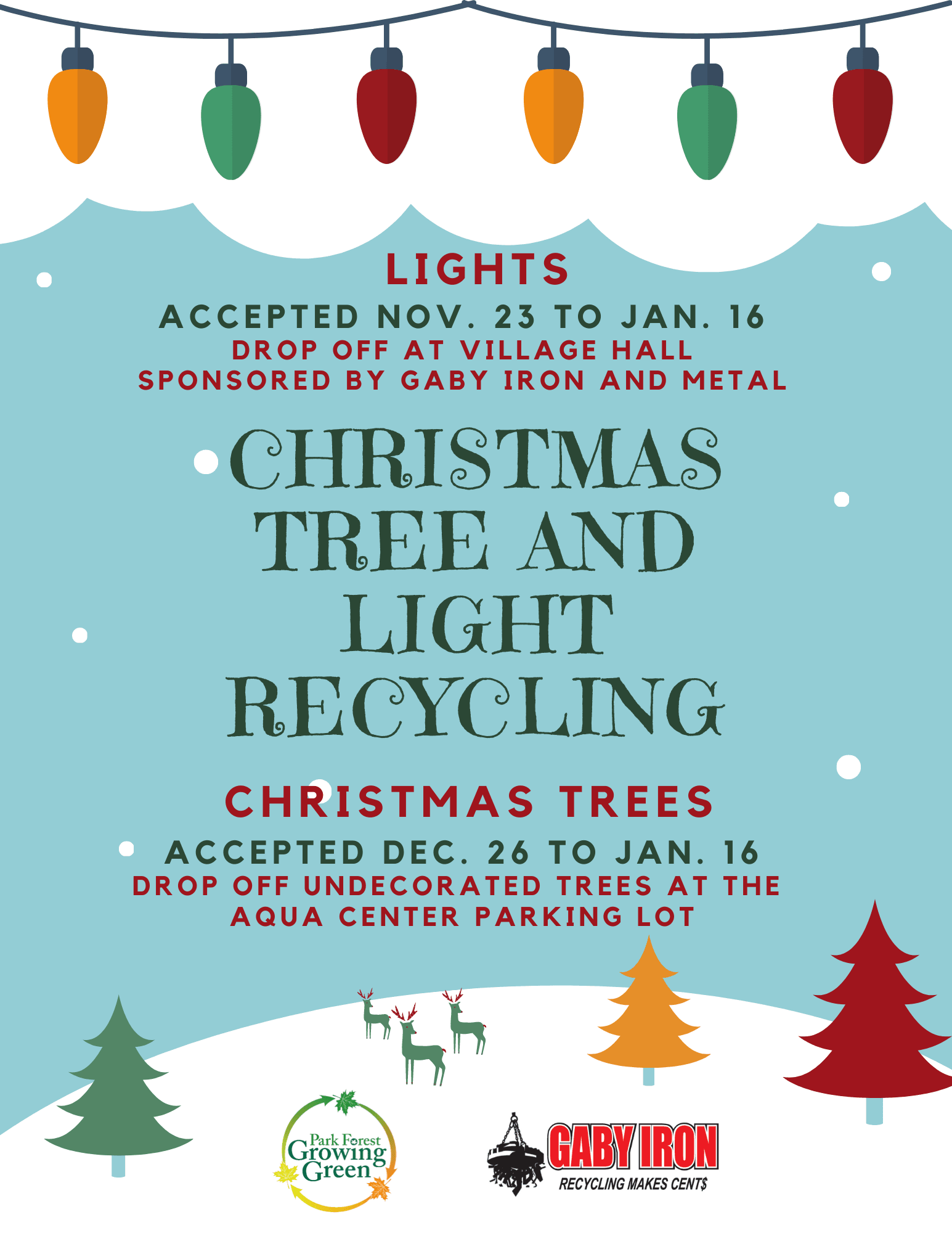 Christmas Tree and Light Recycling Flyer (2)