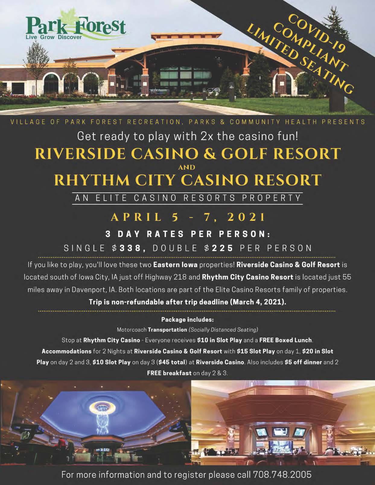 Riverside Casino Flyer April 2021