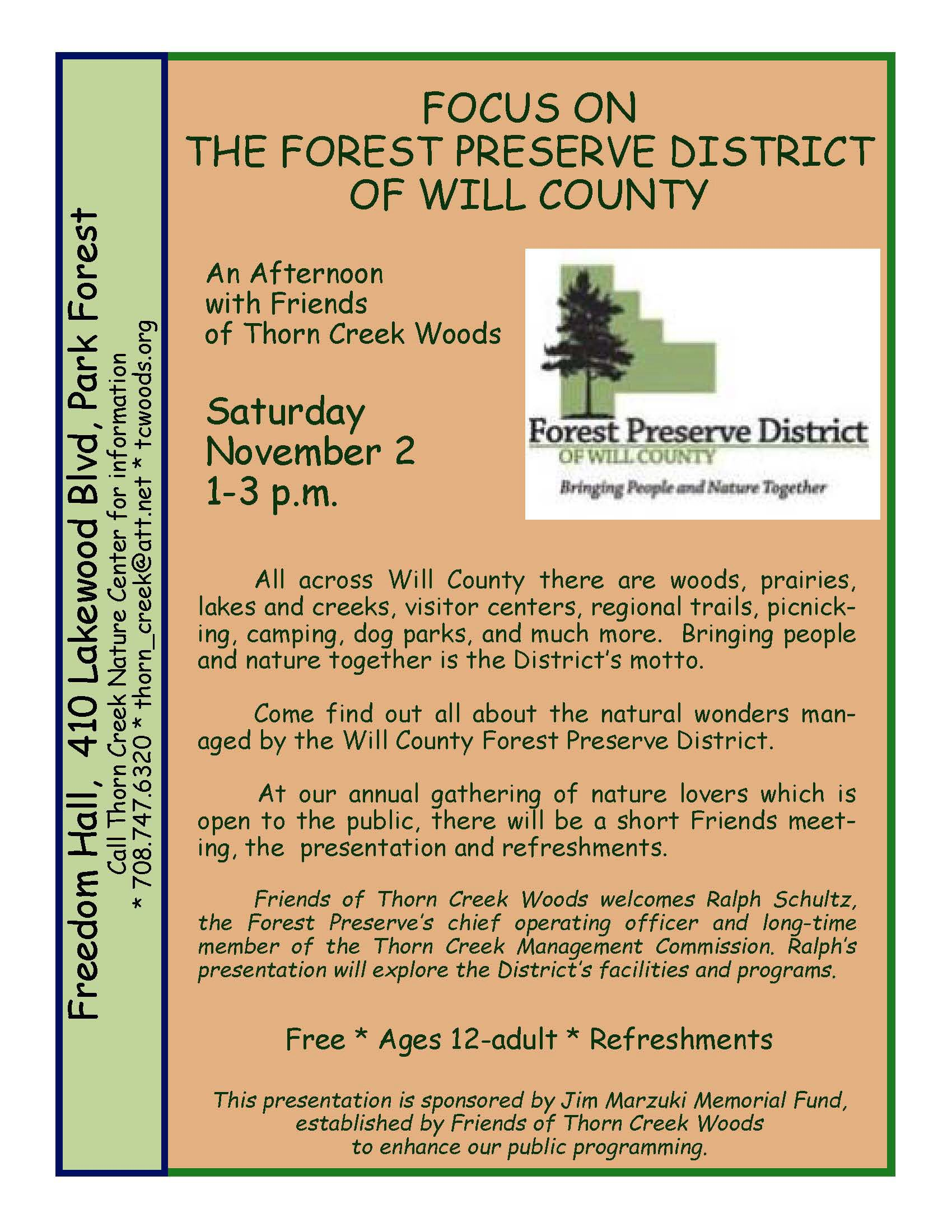 Focus on the Forest Preserve District of Will County 11_2_19