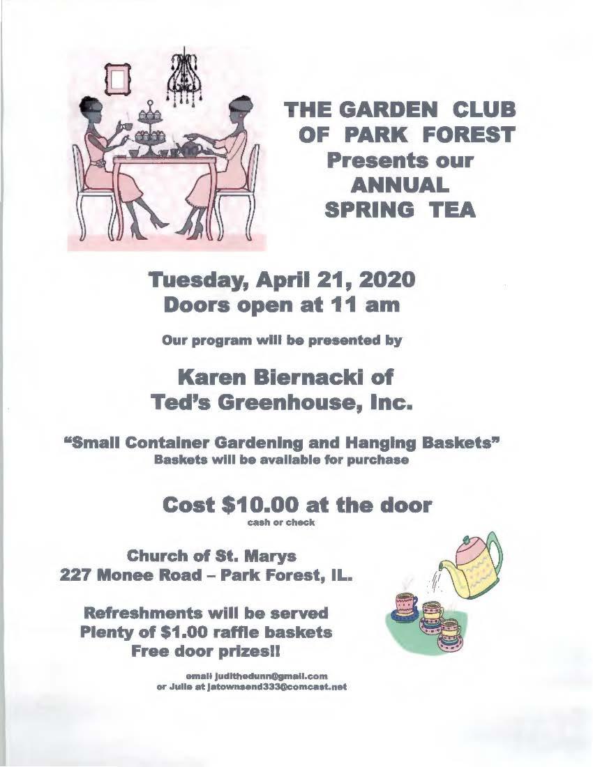 Garden Club Spring Tea 2020
